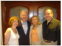 Joining Avram C. Freedberg at his home in CT are his wife, Rhoda (far left) and Senator Joe Lieberman with his wife Hadassah.