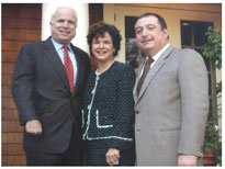 Senator John McCain (R-AZ), with Rhoda and Avram C. Freedberg in Greenwich, CT.