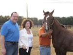 Avram & Rhoda with the new Midaseyes weanling