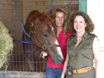 Rhoda Freedberg, and Trainer Linda Rice with Ahvee's Destiny, June 2008.