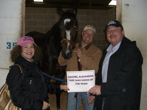 Us with Rachel and Assistant Trainer Scott Blasy